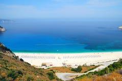 Playa de Myrtos Imagen de archivo libre de regalías