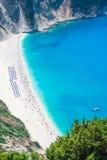 Playa de Myrtos Fotografía de archivo