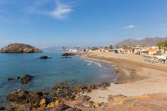 Playa de Nares beach Puerto de Mazarron coast south east Spain stock photography