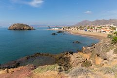 Playa de Nares beach Puerto de Mazarron Murcia south east Spain royalty free stock images