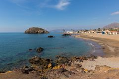 Playa de Nares Puerto de Mazarron Murcia south east Spain royalty free stock image