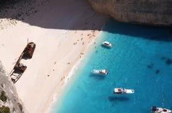 Playa de Navagio Fotos de archivo libres de regalías