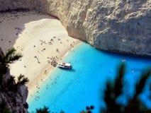Playa de Navagio Fotografía de archivo libre de regalías