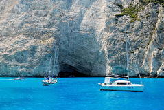 Playa de Navagio de la isla de Zakynthos Fotos de archivo libres de regalías