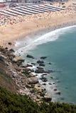 Playa de Nazare, Portugal Fotos de archivo libres de regalías