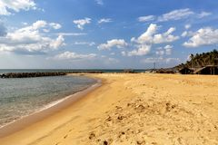 Playa de Negombo, Sri Lanka Fotografía de archivo libre de regalías