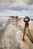 Playa de Newcastle Imagen de archivo libre de regalías