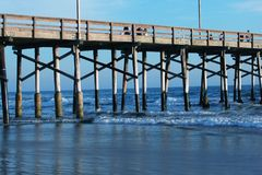 Playa de Newport Embarcadero-Horizontal Imagen de archivo libre de regalías