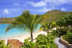 Playa de Nikki en St Barths, el Caribe fotos de archivo