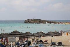 Playa de Nissi imágenes de archivo libres de regalías