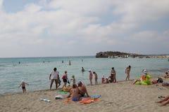 Playa de Nissi imagenes de archivo