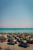 Playa de Nissi, Chipre Imagenes de archivo