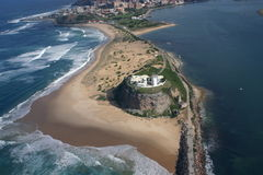 Playa de Nobbys Imagen de archivo libre de regalías