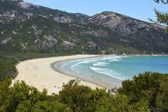 Playa de Norman Bay en parque nacional del promontorio de Wilsons Foto de archivo libre de regalías