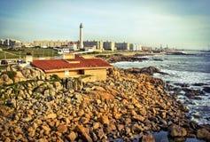 Playa de Nova de la boa en Matosinhos foto de archivo