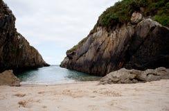 Playa de Nueva de Llanes Imagenes de archivo
