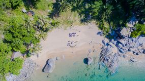 Playa de Nui o la playa ocultada del paraíso en Phuket Fotografía de archivo libre de regalías