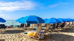 Playa de Oahu Waikiki foto de archivo