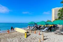 Playa de Oahu Waikiki foto de archivo libre de regalías