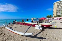 Playa de Oahu Waikiki imagen de archivo libre de regalías
