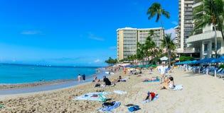 Playa de Oahu Waikiki imágenes de archivo libres de regalías