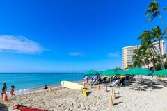 Playa de Oahu Waikiki fotografía de archivo