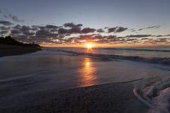 Playa de Oakura, Taranaki, NZ Imágenes de archivo libres de regalías