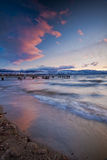 Playa de Okanagan del lago Imagenes de archivo