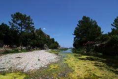 Playa de Olympos (Lycia) Antalya Imagen de archivo libre de regalías