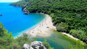 Playa de Olympos, Turquía Fotos de archivo libres de regalías