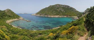 Playa de Oporto Timoni, Corfú, Grecia Imágenes de archivo libres de regalías