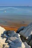 Playa de oro XI en la isla del kefalonia en Grecia Imagen de archivo libre de regalías