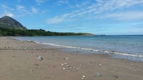 Playa de País de Gales Imagen de archivo libre de regalías