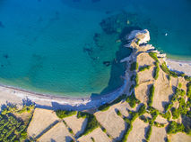 Playa de Palaiopoli, Kythira Fotos de archivo