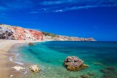 Playa de Paliochori, Milos isla, Cícladas, egeas, Grecia fotografía de archivo