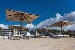 Playa de Palma parasols Stock Image
