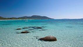 Playa de Palombaggia, Córcega, Francia, Europa almacen de video