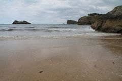 Playa de Palombina, Llanes ( Spain ) Stock Photo