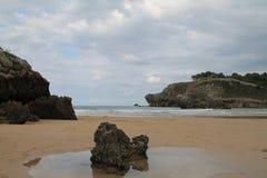 Playa DE Palombina, Llanes, Spanje Stock Foto's