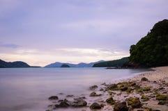 Playa de Panwa del cabo Foto de archivo libre de regalías