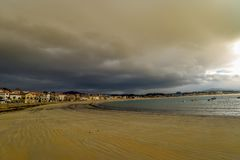 Playa DE Panxon - Panxon - Galicië Royalty-vrije Stock Afbeeldingen