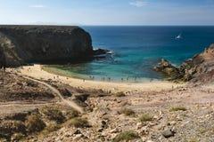 Playa de Papagayo σε Lanzarote, Ισπανία Στοκ Φωτογραφία