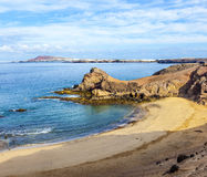 Playa de Papagayo σε Lanzarote, Κανάρια νησιά, Ισπανία Στοκ Εικόνες