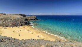 Playa de Papagayo σε Lanzarote Στοκ εικόνες με δικαίωμα ελεύθερης χρήσης