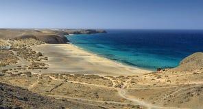 Playa de Papagayo σε Lanzarote Στοκ Φωτογραφίες