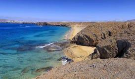 Playa de Papagayo σε Lanzarote Στοκ Φωτογραφία