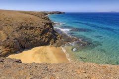 Playa de Papagayo σε Lanzarote Στοκ Εικόνες