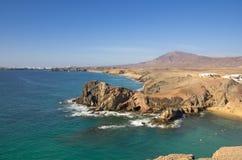 Playa DE Papagayo Stock Afbeeldingen