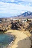 Playa de Papagayo em Lanzarote, Ilhas Canárias, Espanha Imagens de Stock