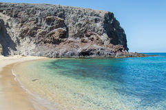 Playa de Papagayo Lanzarote, Κανάρια νησιά Στοκ φωτογραφίες με δικαίωμα ελεύθερης χρήσης